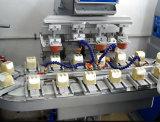 4つのコンベヤーが付いているカラーによって密封されるコップのパッドプリンター