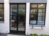 Puerta doble de aluminio del marco del vidrio Tempered de la rotura termal