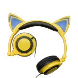 Foldable LED軽い猫耳の白熱方法ヘッドホーン