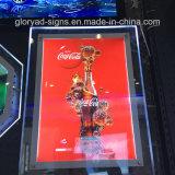 Rectángulo ligero cristalino publicitario de acrílico del LED Frameless
