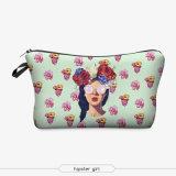sacchetti di trucco di stampa 3D con le estetiche sveglie Pouchs del reticolo multicolore per il sacchetto dell'estetica delle donne del sacchetto delle signore di corsa