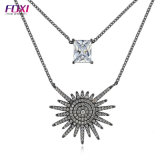 Foxiの方法宝石類のブラジルのネックレスはラインストーンの宝石類をセットした
