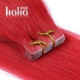 De Stukken van het haar de Band van de Rode Kleur van 20 Duim in de Uitbreiding van het Menselijke Haar