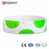 Nuevo producto Serigrafía RFID Hf Pulsera Tyvek