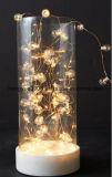 Indicatore luminoso decorativo di natale centrale materiale di vetro di formato LED con la perla all'interno