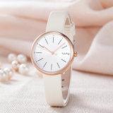 Reloj clásico de la manera de la mujer del regalo de la correa de cuero del ODM del OEM (Wy-126A)