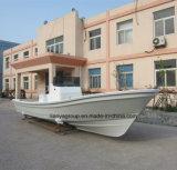 Barco de pesca del yate de la fibra de vidrio del lujo de Liya los 7.6m con el motor externo