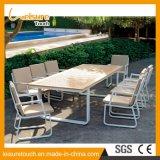 Tableau en bois en plastique et présidence d'alliage d'aluminium de production de meubles extérieurs professionnels de patio