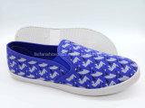 Отдых самых последних женщин ботинок холстины впрыски плоский обувает OEM ботинок Slip-on (FPY822-9)