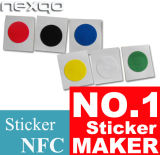 13.56MHz etiqueta branca adesiva da etiqueta da microplaqueta NFC