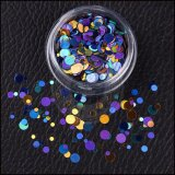 Schwarzer Diamant-Funkeln-Puder, Kunst-Dekoration-Flocken des Nagel-3D