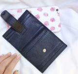 Signora nera Leather Wallet di modo di colore