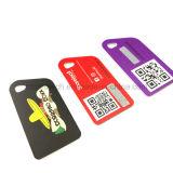 Gestempelschnittene Belüftung-Schlüsselmarken-Karte/Keychain Belohnungs-Karte mit lochendem Loch u. Zeichenkette