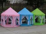 屋内屋外の六角形のCastle Kids Child Children王女のカのテント