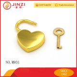 Fashion Bags Fittings Heart Silver Padlock Metal
