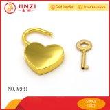 Lucchetto del metallo dell'argento del cuore dei montaggi dei sacchetti di modo
