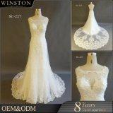 Guangzhou kleidet Fabrik plus Größen-Hochzeits-Kleider mit Hülsen