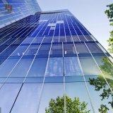 Morden comercial que construye la pared de cortina de cristal del marco de aluminio de aluminio exterior del panel