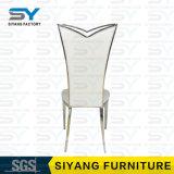 Möbel-Bankett-Stuhl-Chromstahl-Fuß PU-Leder, das Stuhl speist
