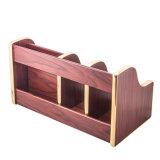 Sostenedor de madera de escritorio del almacenaje de la bandeja y del papel del fichero