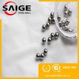 Яркий шарик хромовой стали поверхности G100 6mm продетый нитку полируя