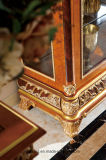 0062-1イタリアの純木の贅沢で旧式な居間のキャビネット