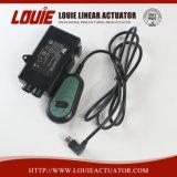 Actuador lineal el auricular y fuente de alimentación