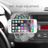超細いプラスチック多彩な360度のケースカバー車のホールダーのiPhoneまたはSamsungのための磁気エア・ベント