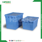 Caisse en plastique compressible se pliante avec le couvercle pour la mémoire