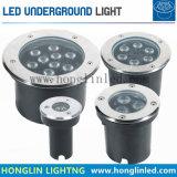 Tiefbau-LED Beleuchtung der Landschaftsbeleuchtung-Leistungs-9W RGB