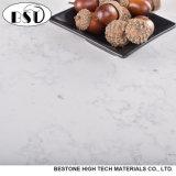 カラーラ白いカラー人工的な水晶石のカウンタートップ