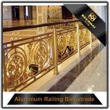 Costom a décoré la balustrade européenne d'escalier de type