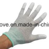 Перчатка перчаток 5 ESD связанная перстом с покрытием угольной нити и полиуретана