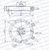 Détecteur de force et capteur de pression de piézoélectrique biaxiales de 2 axes (B550)