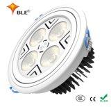 Rond en aluminium vers le bas LED feux commerciaux pour les vêtements des magasins
