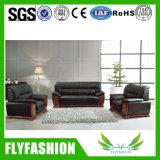Sofà comodo del cuoio genuino della mobilia calda dell'ufficio vendite impostato (OF-03)
