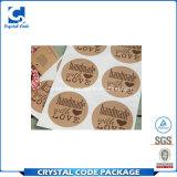 Kundenspezifischer selbstklebender Packpapier-Aufkleber-Kennsatz für Verpackung