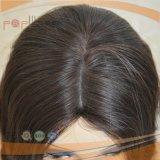 Parrucca superiore di seta di qualità superiore dell'ebreo dei capelli neri di colore (PPG-l-01539)
