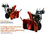 La soufflante à neige en 3 étapes avec 420cc 34pouces souffleuse à neige à démarrage électrique compact