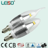 5W CREE Chip Dimmable E14 Scob Candle Light Bulb (LS-B305-SB-CWWD)
