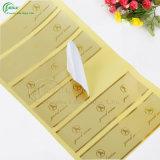 Het Stempelen van de Folie van de Verkoop van de douane de Hete Gouden Zilveren Hete Sticker van het Hologram (kg-PA038)