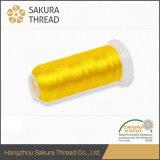 Alto filetto trilobale del ricamo del poliestere del filamento di tenacia 100% di Oeko-Tex