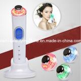 Derma SPA ultrasonique et LED de photons d'ions galvanique Rajeunissement de la peau beauté faciale Visage masseur