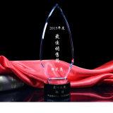 Trofeo promocional del vidrio cristalino para el recuerdo