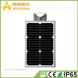 12W生命電池の通りの駐車場の庭のパスのためのオールインワン太陽照明装置