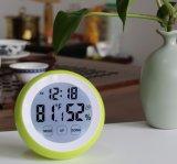 Runde Form-Screen-Digital-Timer mit Temperatur und Feuchtigkeit