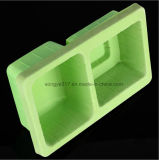 Pp.-Grün, das Befestigungsteil-Blasen-verpackentellersegment sich schart