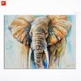 Pintura caliente de la lona de arte de la pared del elefante de la fauna del tono