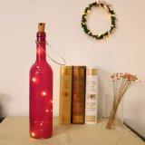 Luz de la botella de vino del corcho luz estrellada de 40 pulgadas para el blanco caliente del partido de Víspera de Todos los Santos de la boda de la Navidad