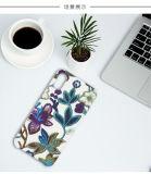 iPhone 8을%s 가죽 전화 상자가 새로운 3D 자수에 의하여 꽃이 핀다
